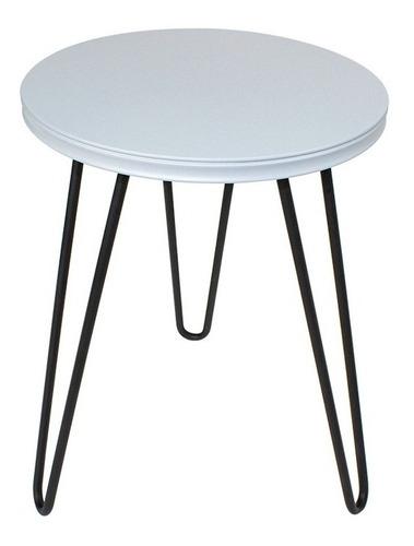 mesa lateral auxiliar brandt centro redonda 39 cm  metal