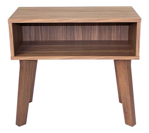 mesa lateral auxiliar matt rectangular nogal - madera