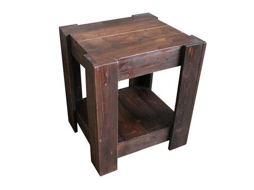 mesa lateral bento 35x50x36 madera pantano pallet