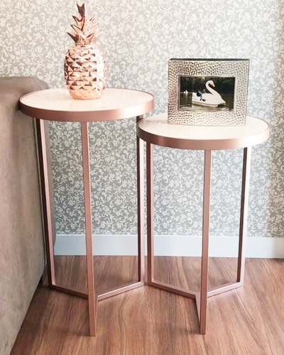 mesa lateral - conjunto com 2