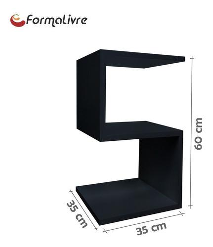 mesa lateral de apoio cabeceira criado mudo s preto laca