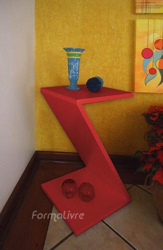 mesa lateral de apoio cabeceira criado mudo z  vermelho laca