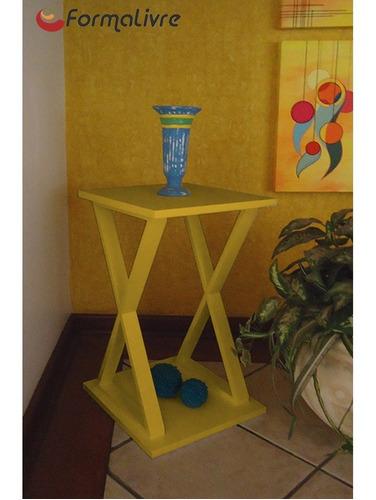 mesa lateral de apoio ou mesa de cabeceira x amarelo laca