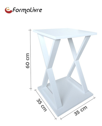 mesa lateral de apoio ou mesa de cabeceira x branco laca