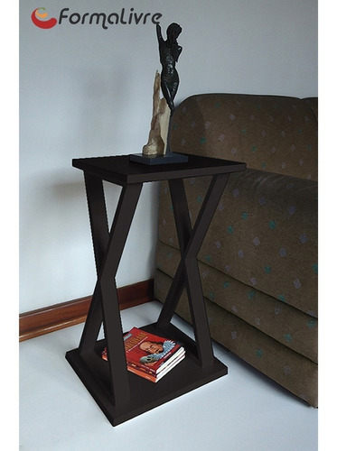 mesa lateral de apoio ou mesa de cabeceira x preto laca