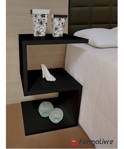 mesa lateral de apoio s ou mesa de cabeceira preto laca