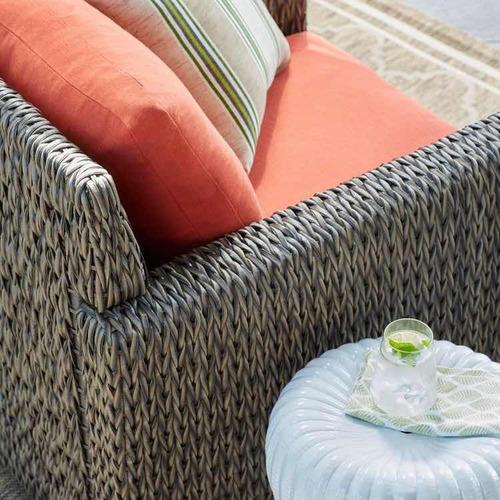 mesa lateral de jardín blanca de cerámica safavieh
