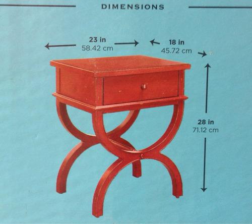 Mesa lateral de madera esquinero wow 1 en for Mesa de esquinero