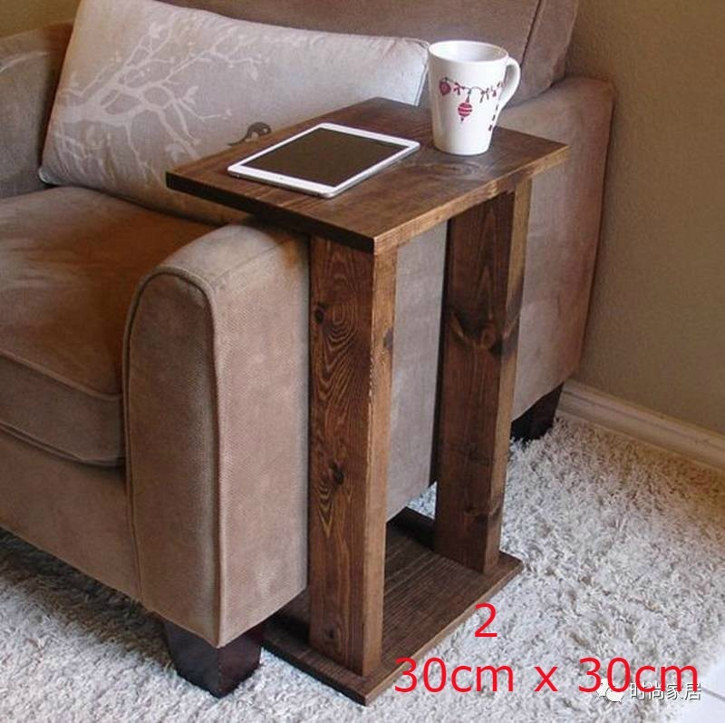 Mesa lateral de madera para el brazo del sillon mod lee - Mesas para el sofa ...