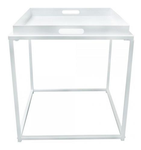 mesa lateral de metal minimalista bandeja extraíble con 2 a