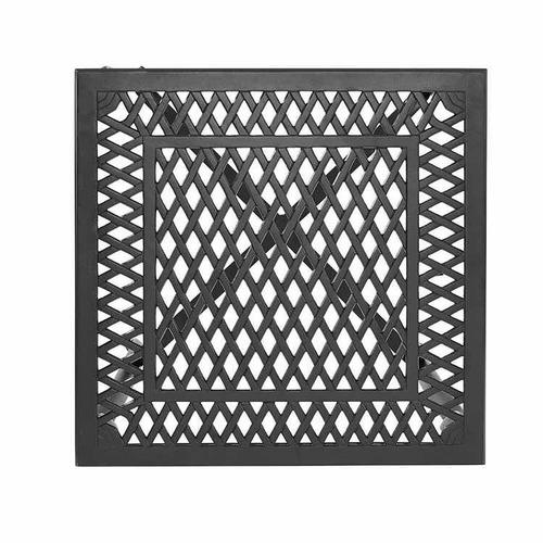 mesa lateral exterior de aluminio negro portofino