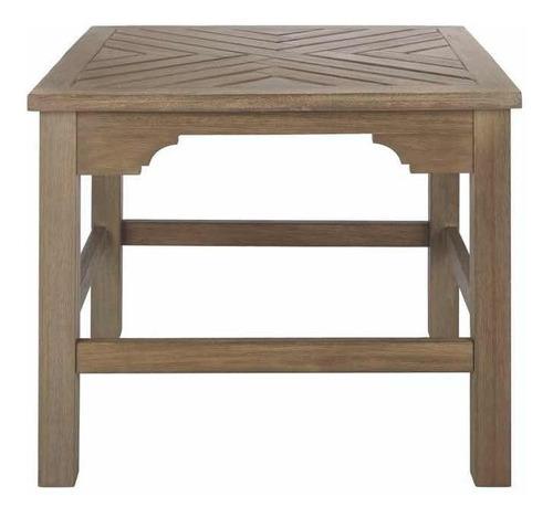 mesa lateral exterior de madera de eucalipto blue hill