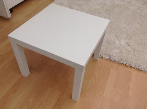 Mesa lateral minimalista ikea lack blanca en - Ikea mesa blanca ...