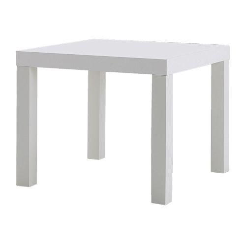 Mesa lateral minimalista ikea lack blanca en - Mesa blanca ikea ...
