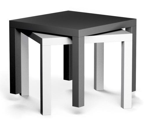 Mesa lateral minimalista ikea modelo lack blanca 659 - Ikea mesa lack blanca ...
