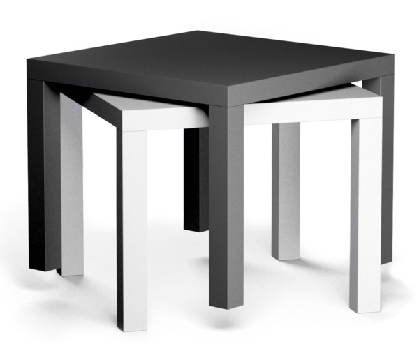 Mesa lateral minimalista ikea modelo lack blanca 549 - Ikea mesa blanca ...