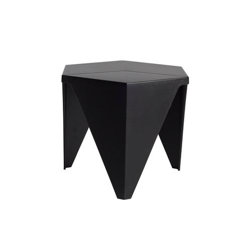 mesa lateral prisma negra - inlab muebles