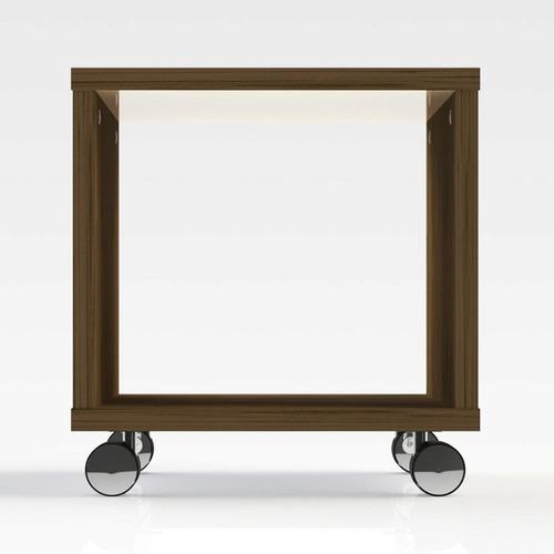 mesa lateral quadrada com rodízios art olivar bj