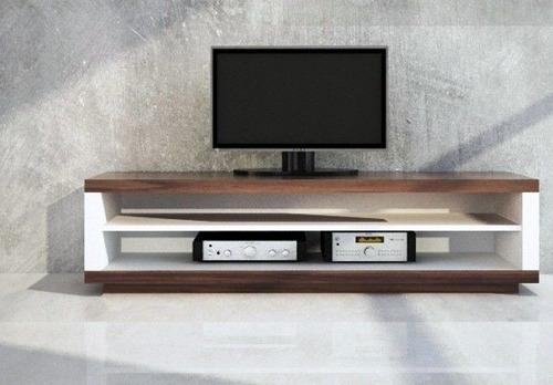 mesa lcd  dvd espesor base 36mm laterales 42mm estante 18mm.