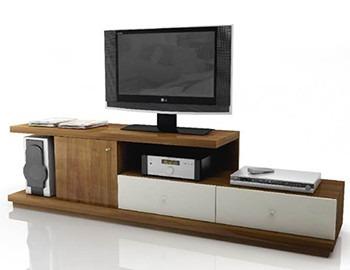 mesa lcd led dvd audio 2 cajones 1 puerta espesor 36mm y 18m