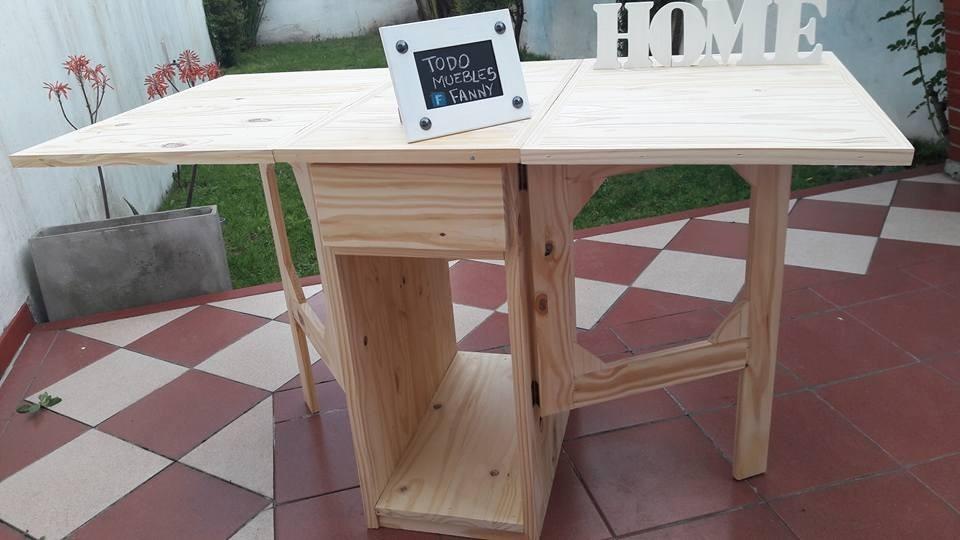 Mesa Libro Auxiliar Cocina Plegable Pino Crudo - $ 3.399,00 en ...