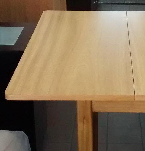 mesa libro madera maciza