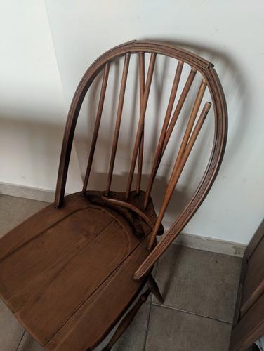 mesa libro patinada con 4 sillas windsor