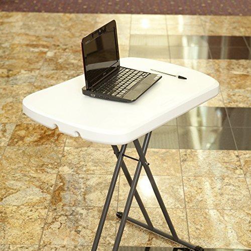 mesa lifetime plegable portátil y ajustable de 26  color