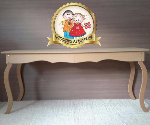 mesa luis xv 1.50 lisa decoração de festa mdf  casamento