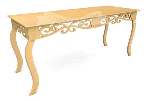 mesa luis xv 1.80 prince decoração de festa mdf casamento