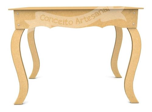 mesa luis xv decoração festa casamento mdf 1m provençal