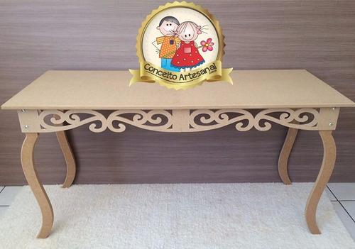 mesa luis xv decoração festa casamento mdf cru 1.20m prince