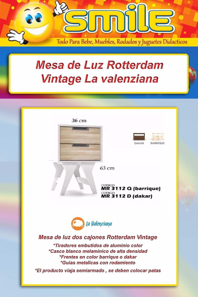Mesa Luz Vintage Mesita Rotterdam Dise O Valenziana Smile  # Muebles Rotterdam