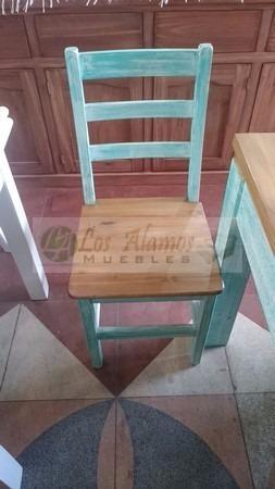 mesa maciza 1.80x0.80 + 6 sillas anatomicas  los alamos