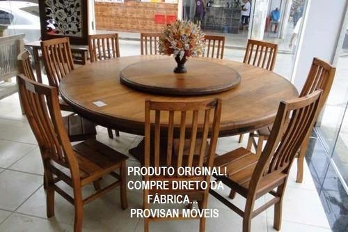 mesa madeira maciça 1,40m + 6 cadeiras frete grátis rj e sp