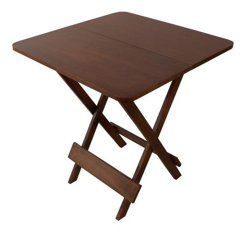 mesa madeira maciça verniz mel bar restaurante dobrável