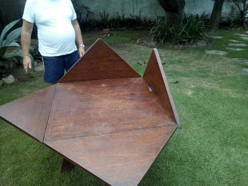 mesa madeira retrátil