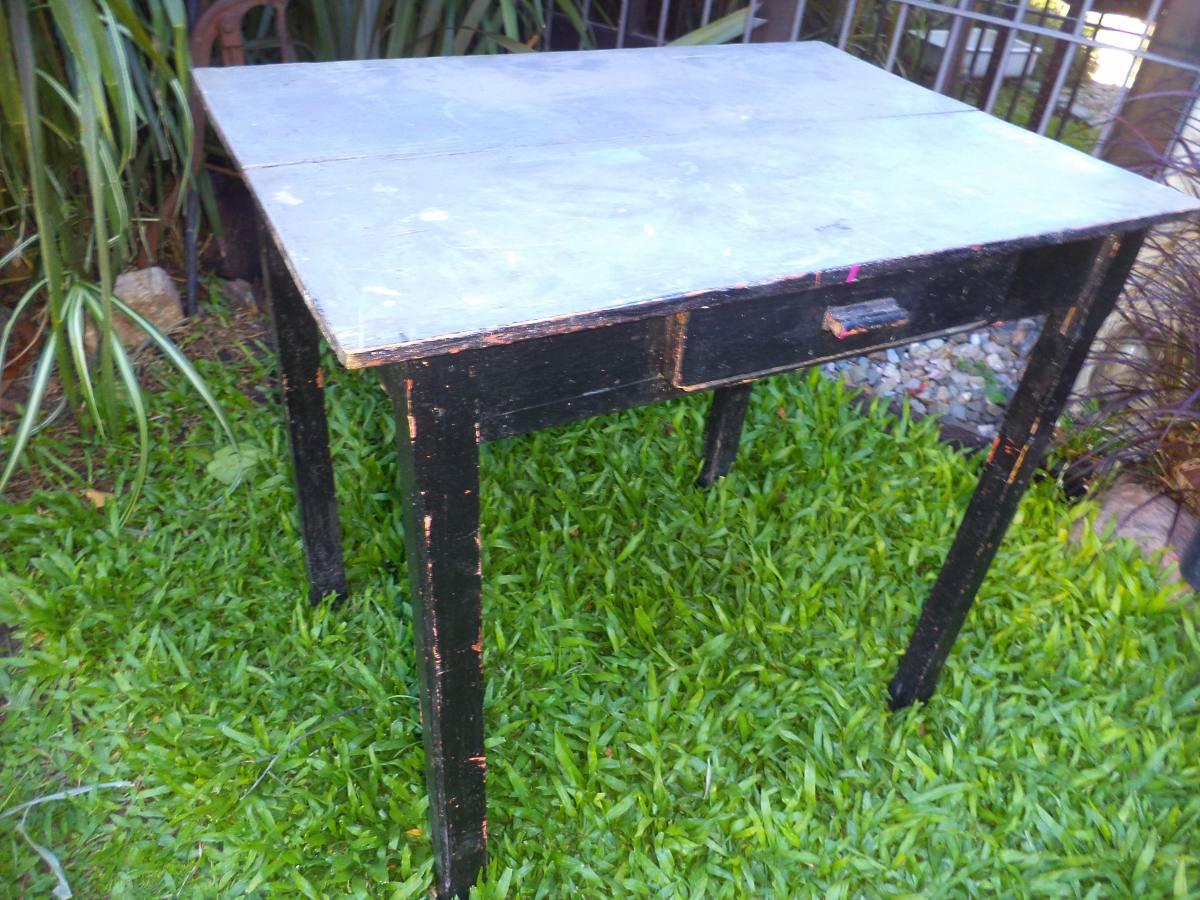 Mesa madera de campo pino antigua vintage en - Mesa de campo ...
