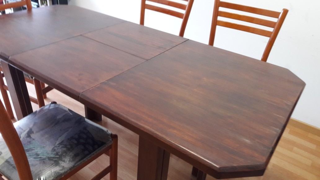 Mesa Madera Extensible Comedor - $ 1.499,00 en Mercado Libre