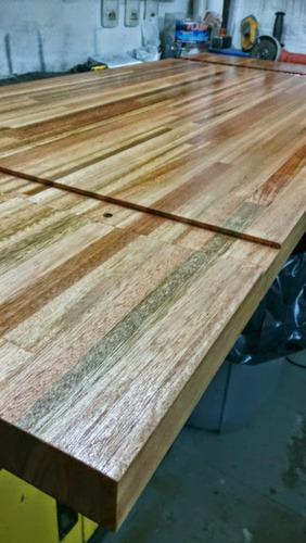 Mesa parrillero rustica mesa de hierro y madera a for Muebles maldonado precios