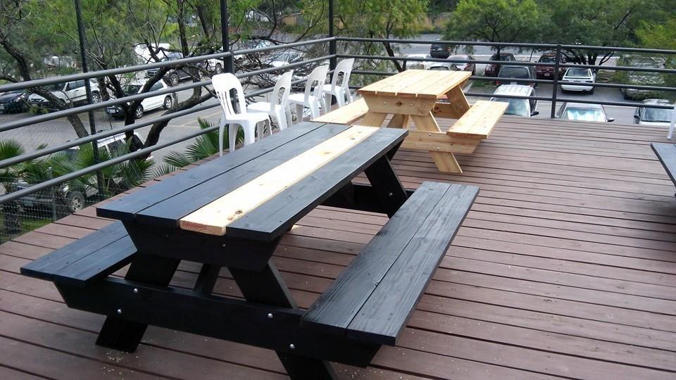 Mesa d madera picnic 2 metros para exterior mesas y bancas 6 en mercado libre - Mesas de exterior de madera ...