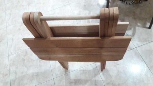 mesa madera  plegable camping .hogar