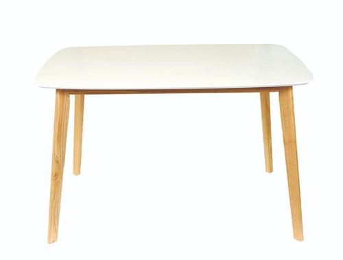 mesa madera rectangular 120 x 80 norway claire comedor