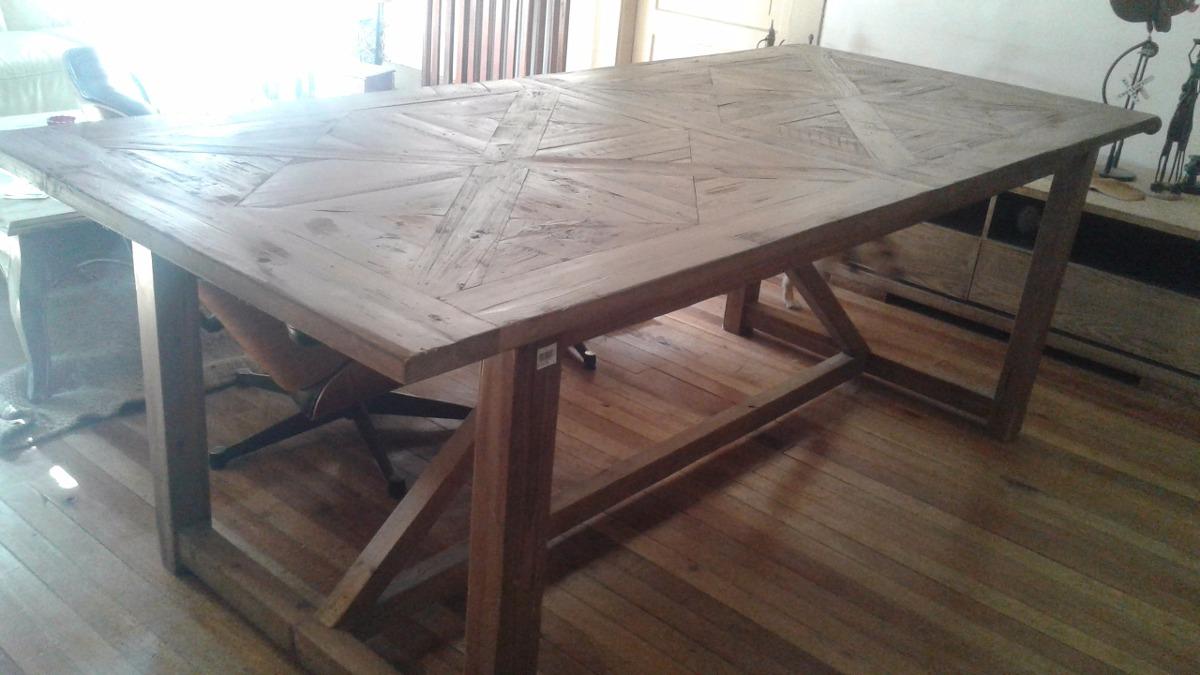 Mesa madera rustica dise o en mercado libre - Mesa madera diseno ...
