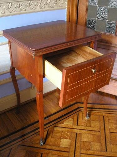 mesa maquina coser con cajonera
