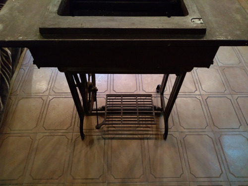 mesa maquina de coser antigua tipo singer vintage