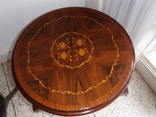 mesa marqueteria portuguesa una joya en madera