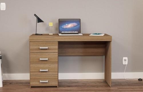 mesa marrom clara ambiente pequeno computador ml castanho