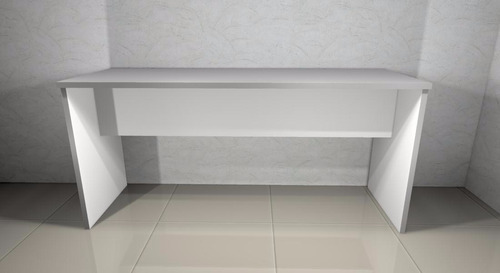 mesa mdf branca 1,6m x 0,55m