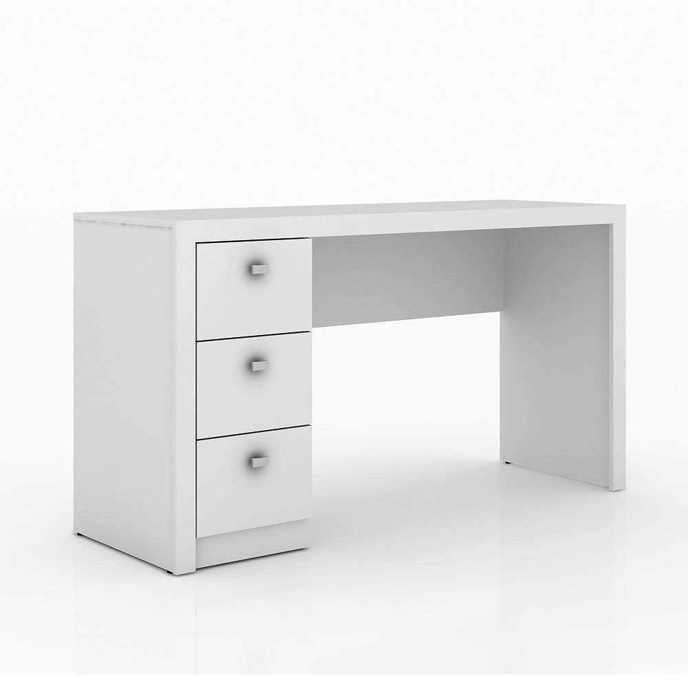 Mesa me 02 madeira para escrit rio estudos branco 3 for Mesa de mezclas para pc